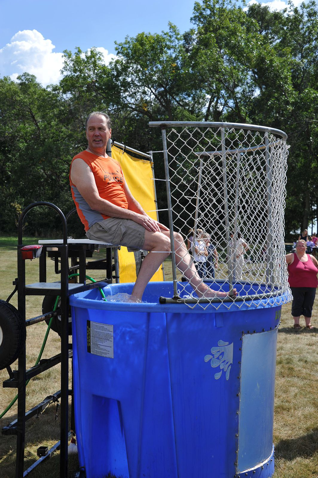 Dunking booth baptisms -