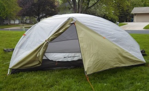 Always a good idea to erect the tent at home before one tries it in the wild.
