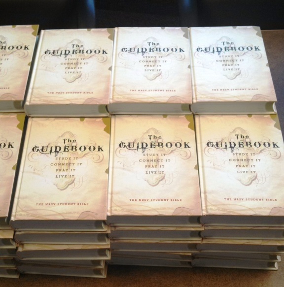 Confirmation Bibles prepared to guide our students.