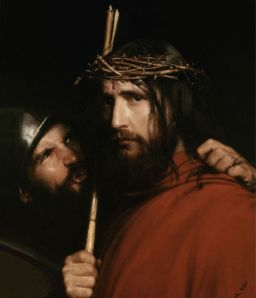 christ mocked by soldier, bloch