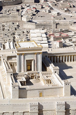 Model of the Second Temple in Jerusalem By Berthold Werner - Own work, Public Domain,