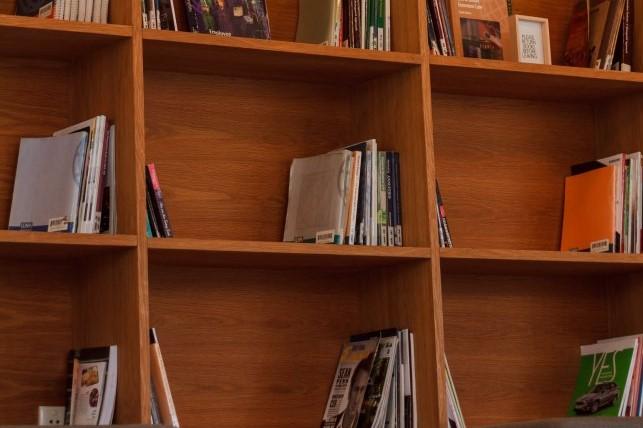 landscape bookcase